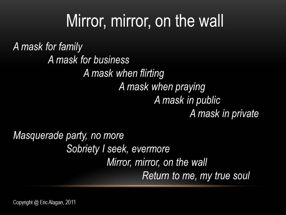 Mirror mirror on the wall written words never die for Mirror on the wall