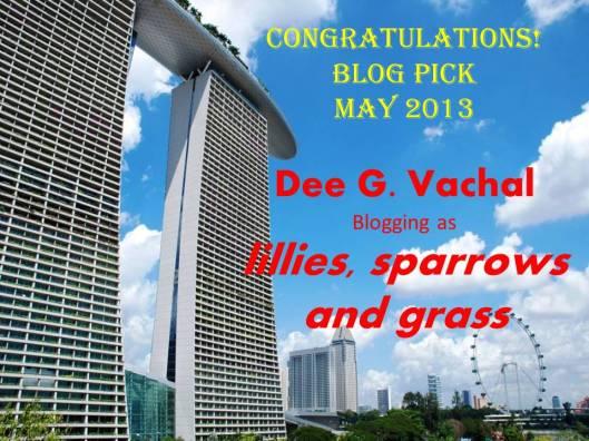Dee_Blog Pick May_2013