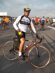 Eric on Bicycle - Paya Lebar Airbase
