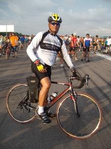 Eric on Bicycle - Paya Lebar Airbase