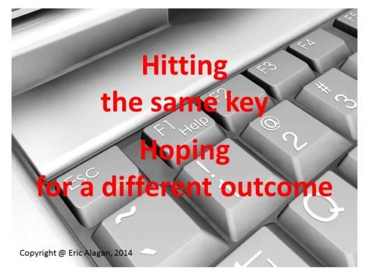 Hitting the Same Key